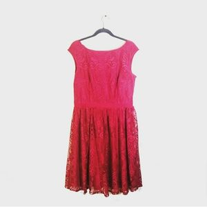 MAGGY LONDON Lace Dress Red